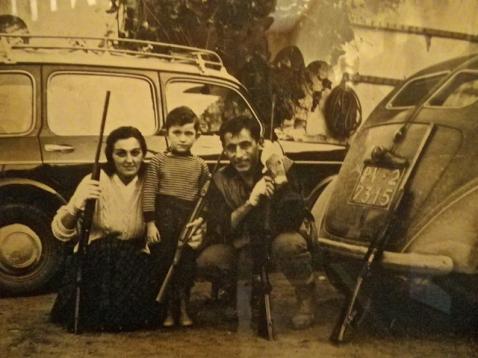 Coppi e famiglia a caccia
