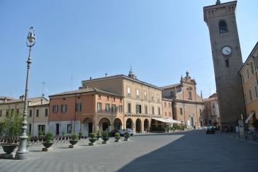 Bagnacavallo, la piazza