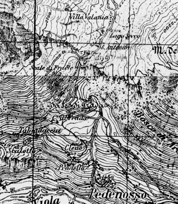 La rotabile delle Scale di Fraele nel rilievo IGM a scala 1:25 del 1885-1908, agg. 1931